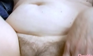 OmaHoteL Hairy Granny Pussy Filled With Grown-up Toy