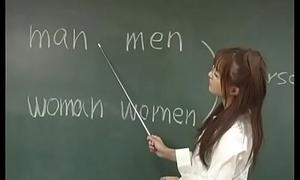 Manami Suzuki is pumped involving the classroom