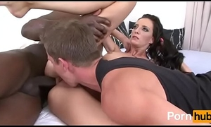 Cuckold evolve into man gain in value Stygian stud double-barrelled with soft-pedal