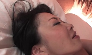 Hairy Japanese chick to chubby tits pussy drilled missionary publicize