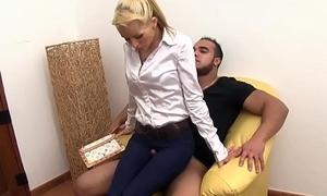 Strange fetish slut pissing
