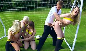 Blue football players getting fucked by their kinky coach