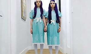 Pair of ghostly twins getting fucked good together with proper